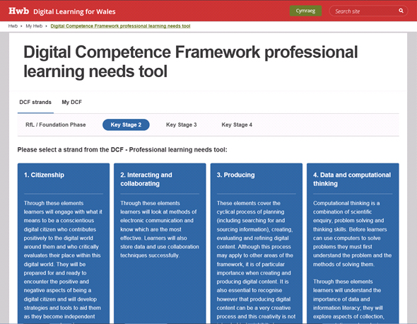 digital competence framework  u2013 professional learning needs