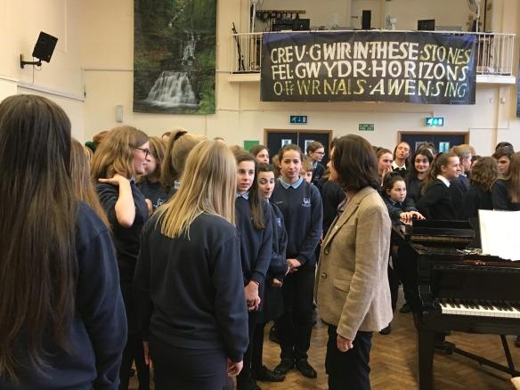 Welsh in education Glyntaf school